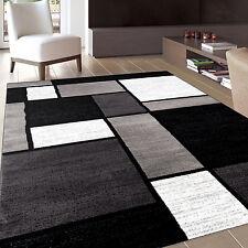 Black and Gray Rug Contemporary Modern Decorative Area Carpet Living Room 5 x 7