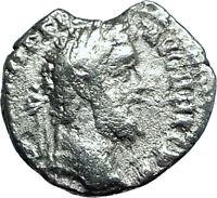 COMMODUS Genuine 191AD Rome Authentic Ancient Silver Roman Coin CONCORDIA i66107