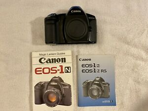 Canon EOS-1n with original instruction manual and Magic Lantern instruction book