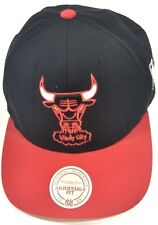 Chicago Bulls Windy City Snapback Hat Cap NBA Basketball Red Black Mitchell Ness