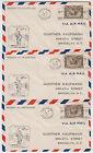 B3190: (3) 1931 Canada 1st Flight Covers, #C2; CV $82+