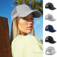 Mens Womens Jersey Trucker Cap Cotton Baseball Cap Mesh Breathable Soft Sun Hat