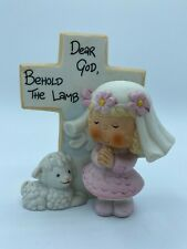 "Vintage Dear God Kids Enesco 1983 ""Behold The Lamb"" Figurine Porcelain"