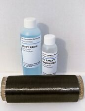Real Carbon Fiber Uni Kit for added stiffness 1 yd uni and epoxy resin