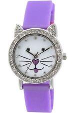 Reloj Tikkers NiñOs Esfera Blanca Pantalla Analógica correa de silicona púrpura TK0107