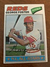 1977 Topps GEORGE FOSTER Cincinnati Reds Big Red Machine Fan Favorite HOF? #347