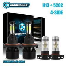 IRONWALLS 4Sides H13+5202 H16 LED Headlight Fog Combo for GMC Yukon XL1500 07-14