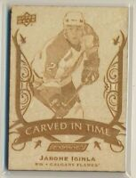 2019-20 Upper Deck Engrained Carved In Time CT-12 Jarome Iginla Calgary Flames