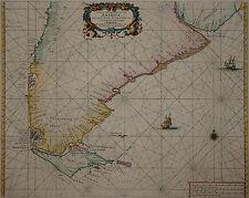 Argentinien - Chile - Magellanstraße - H. Doncker 1659 - Paskaarte van't zuijde