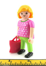 PLAYMOBIL~New~Woman~Lady~Pregnant~Mother~Modern Blonde Hair~Purse~City Life