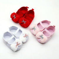 Infant Newborn Baby Girls Prewalker Bow Applique Single Shoes Princess Shoes