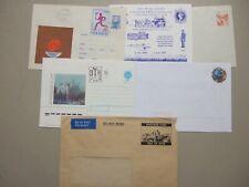 Six mint postal stationery envelopes: Russia ,France,Yugoslavia,Isle of Man,Gb
