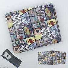 Rick and Morty Wallet Short Bifold Card Holder Purse Colour Otaku Gifts Otaku N3