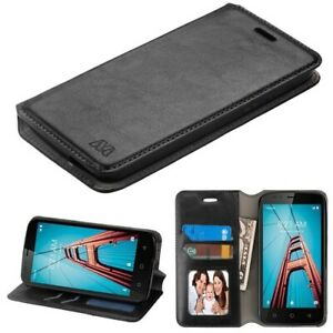 For COOLPAD Defiant Hybrid Leather Wallet Clip Card Pouch Stand Phone Case Cover
