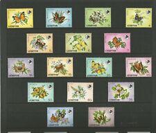 LESOTHO 1984 Butterflies. SG 563-578. 16 Values.MNH