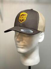 Embroidered UPS Baseball Hat /  UPS FLEXFIT SNAPBACK Trucker Mesh Yupoong