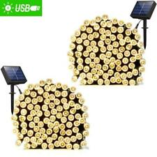 ADDLON 2 Pack Solar Xmas String Lights 72ft 22m 200 LED 8 Modes Solar Powe..