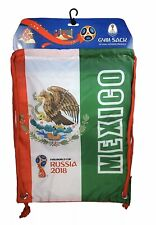 Mexico 2018 FIFA World Cup Russia Official Gymsack Drawstring Soccer Backpack!!