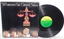 GREENE SISTERS Whatever's Fair LP Vinyl Stereo Gospel Soul Mankind PLAYS WELL
