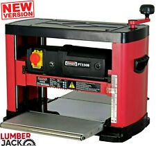Lumberjack Planer Thicknesser Bench Top Joiner 330mm 230V Portable Woodworking