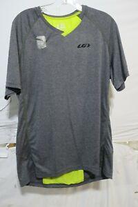 Louis Garneau HTO 2 Cycling Jersey Men's XL Heather Gray Retail $45