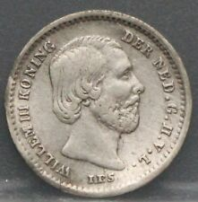 Nederland  The Netherlands 1859 stuiver, 5 cent, Willem 3 Silver KM# 91