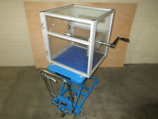 Wire Reel Holder Amp Dispenser On Bishamon Bx15e 150 Kg Hydraulic Lift Cart No1