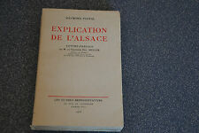 EXPLICATION DE L'ALSACE - R.POSTAL - STRASBOURG BAS-RHIN - 1933 (K1)
