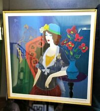 """SERIGRAPH by ITZCHAK TARKAY """"Time To Relax"""" - European Proof # 61/85 - On Woven"""