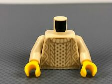 LEGO Minifigure Torso Tan Knit Sweater Pattern with Tan Arms Yellow Hands