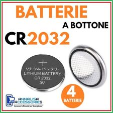 4 BATTERIE AL LITIO CR2032 3V VOLT PER OROLOGIO AUTO STOCK PILE 2032 A BOTTONE