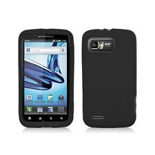 Black Skin Cover Case  for Motorola Atrix 2 Mb865