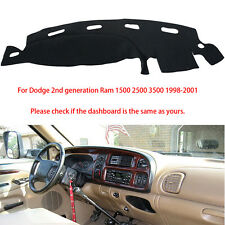 For Dodge Ram 1500 2500 3500 1998-2001 Dash Cover Dash Mat Dashboard Mat Black