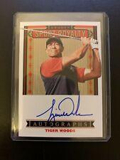 Tiger Woods 2019 Upper Deck Goodwin Champion Goudey Sport Royalty Auto Autograph