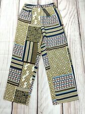 BNWT Fenn Wright Manson Satin Wide Leg Chaos Print Loose Casual Trousers L UK 14
