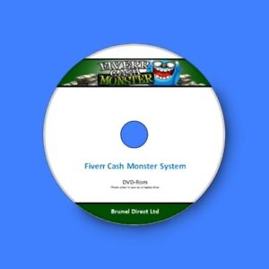 Work From Home Business using the Fiverr Cash Monster System course on DVD-Rom