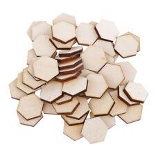 54pcs/set Wooden Hexagon Wood Slices Party Wedding Embellishment Crafts DIY