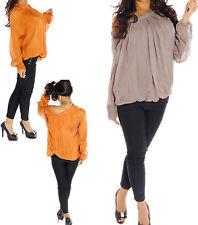 Damen-Shirts aus Chiffon ohne Muster