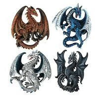Dragon's Lair Ruth Thompson Set of 4 Collectible Sculptural Dragons Refrigera...