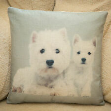West Highland Terrier Westy Cushion Cover, 33cm, Photo Print, 15 Other Breeds