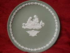 Wedgwood 6.5 Inch Mother Plate 1972 Sage Green and White Jasper