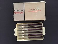 Vintage Stanley Deluxe Steak Knives ~ Set of 6 ~ in Plastic Tray ~ Box