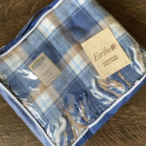 Faribo by Faribault Vintage Plaid Fringe Throw Blanket Pak A Robe