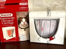 Staywell Magnetically Operated Cat Flap Model 932 White