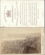 G. W. Wilson, the west side of Staffa CDV, vintage albumen carte de visite CDV