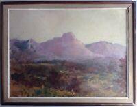 FILIPPINI Francesco Impressionniste Italien Tableau XIXe Huile Paysage Montagne