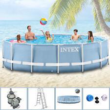 Intex 366x122 Komplettset Swimming Pool Schwimmbad Frame Metal Stahlwand