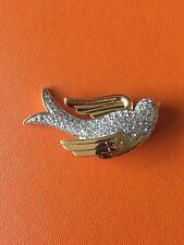 Collectible Nolan Miller Gold Tone/Rhinestone Bird Brooch