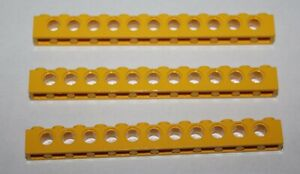 Lego Technic Yellow Brick 1x12 with Holes ref 3895/sets 8862.8853.8872.8850.8849