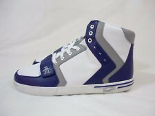 Original Penguin Moby Hi Top Leather Sneakers Men's Shoes White Blue Grey Size 9